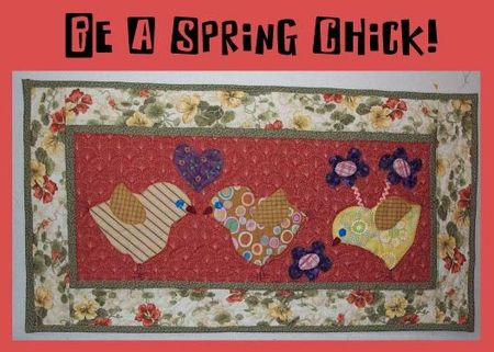 Spring chick button