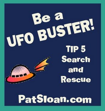 UFO buster button 5