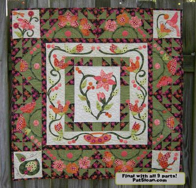 Meadow breeze part 9 pic Completed quilt with note