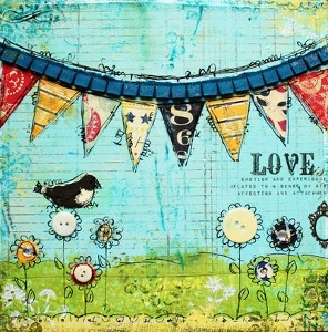 Christy Love-is-in-the-air-Mixed-Media-Canvas