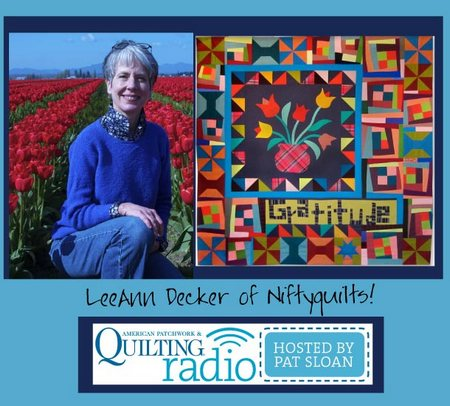 Pat Sloan American Patchwork and Quilting radio LeeAnn Decker guest