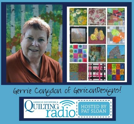 Pat Sloan American Patchwork and Quilting radio Gerie Congdon guest