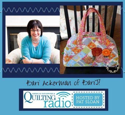 Pat Sloan American Patchwork and Quilting radio Bari Ackerman guest