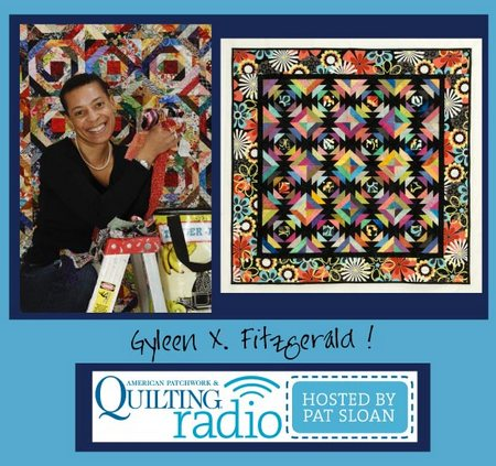 Pat Sloan American Patchwork and Quilting radio Gyleen X Fitzgerald guest