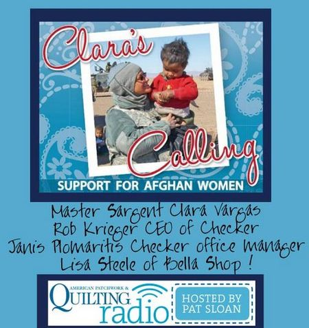 Pat Sloan American Patchwork and Quilting radio Claras Calling1 guest