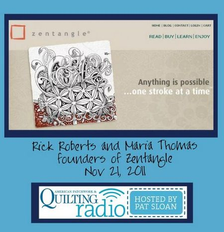 Pat Sloan American Patchwork and Quilting radio Zentangle guest