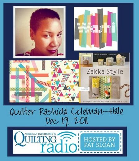 Pat Sloan American Patchwork and Quilting radio Rashida Coleman Hale guest
