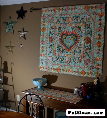 Pat sloan aqua heart in dining room