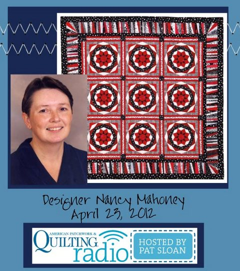 Pat Sloan American Patchwork and Quilting radio Nancy Mahoney guest pic