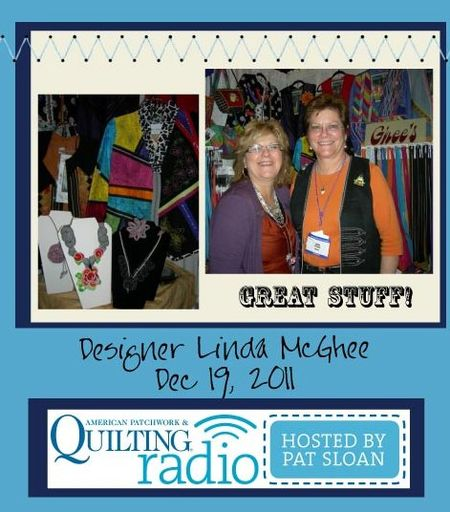 Pat Sloan American Patchwork and Quilting radio linda mcghee guest