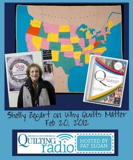 Pat Sloan American Patchwork and Quilting radio Shelly Zegart guest