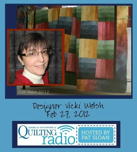 Pat Sloan American Patchwork and Quilting radio Vicki Welsh guest
