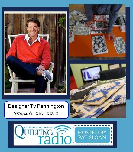 Pat Sloan American Patchwork and Quilting radio Ty Pennington guest