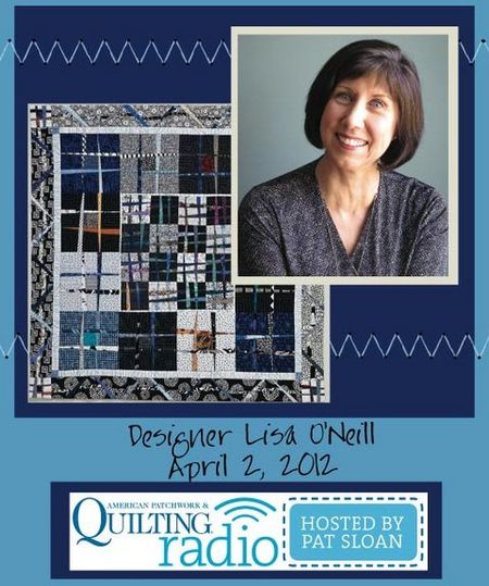 Pat Sloan American Patchwork and Quilting radio Lisa ONeill guest pic