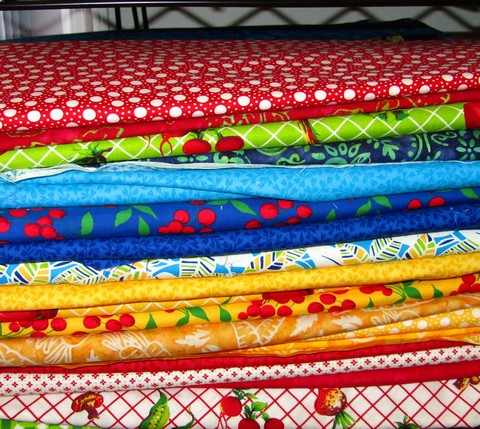 Pat sloan eat your fruits and veggie fabric options