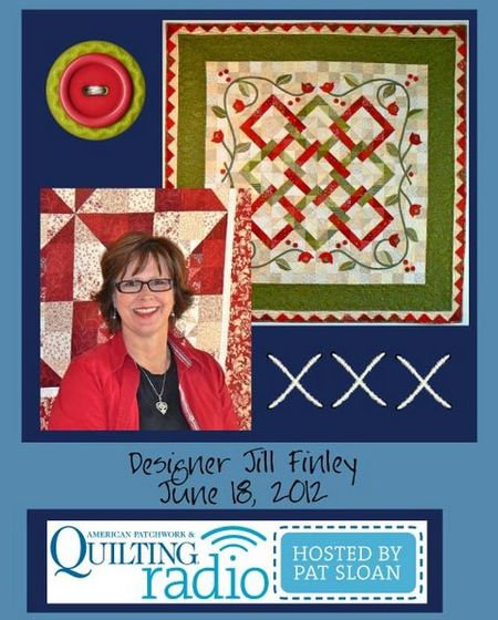 Pat Sloan American Patchwork and Quilting radio Jill Finley guest pic