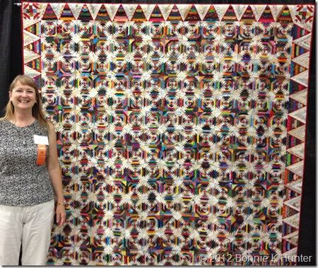 Bonnie hunter and her teacher quilt
