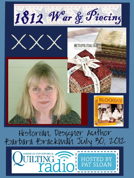 Pat Sloan American Patchwork and Quilting radio Barbara Brackman guest pic