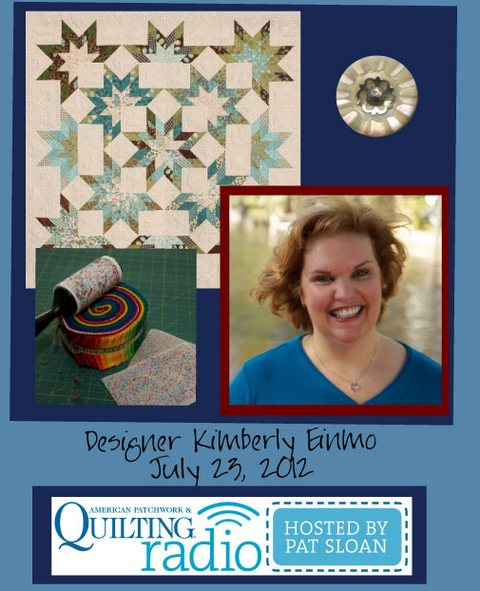 Pat Sloan American Patchwork and Quilting radio Kimberly Einmo guest pic