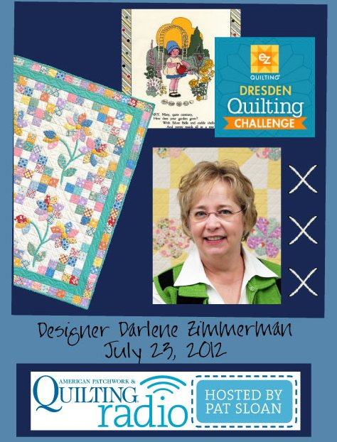 Pat Sloan American Patchwork and Quilting radio Darlene Zimmerman guest pic