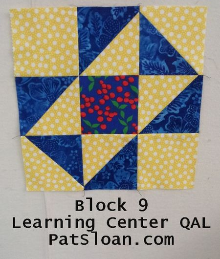 Pat sloan LC block 9 blue yellow