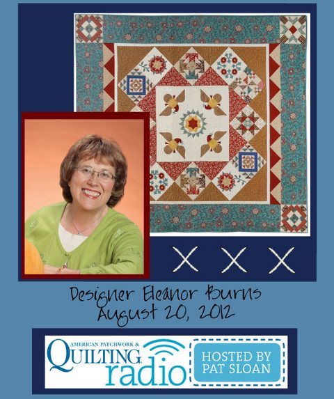 Pat Sloan American Patchwork and Quilting radio Eleanor Burns guest pic
