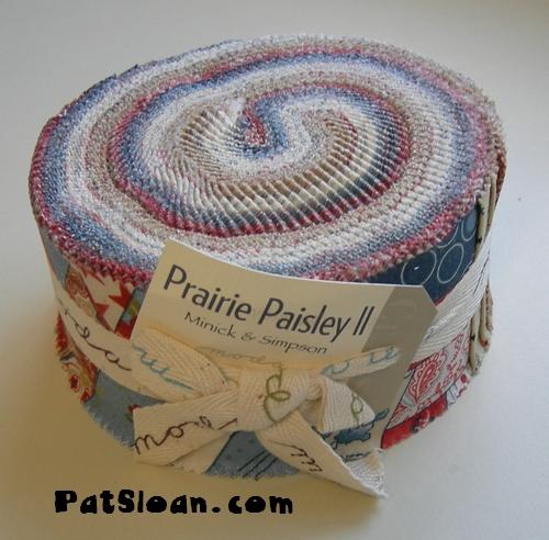Pat sloan prairie paisley II jelly roll pic 1