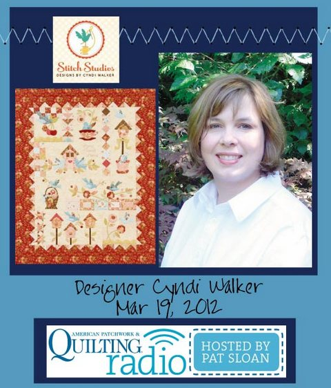 Pat Sloan American Patchwork and Quilting radio Cyndi Walker guest pic