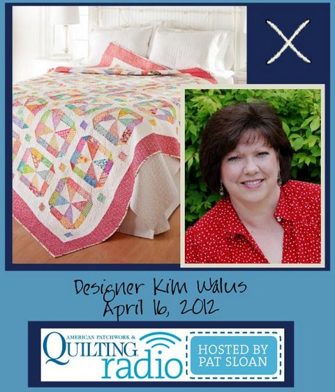 Pat Sloan American Patchwork and Quilting radio Kim Walus guest pic