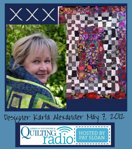 Pat Sloan American Patchwork and Quilting radio Karla Alexander guest pic