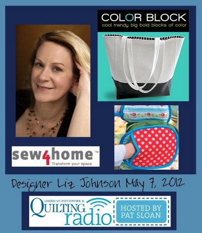 Pat Sloan American Patchwork and Quilting radio Liz Johnson guest pic