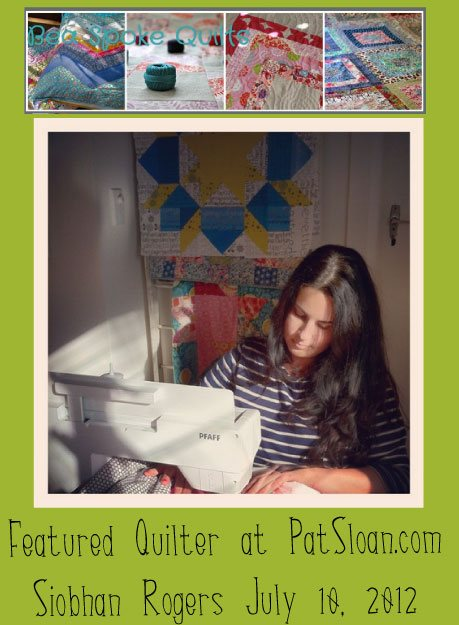 Pat sloan featured quilter Sioban Rogers