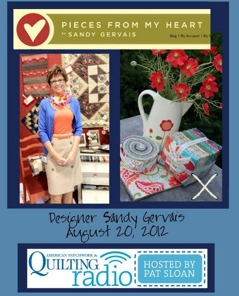 Pat Sloan American Patchwork and Quilting radio Sandy Gervais guest pic