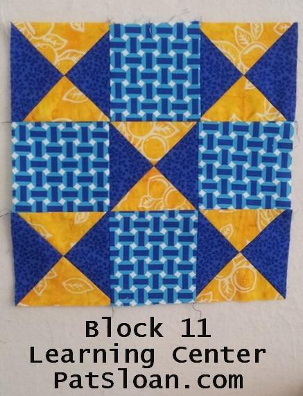 Pat sloan block 11 learning center