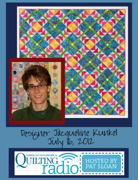 Pat Sloan American Patchwork and Quilting radio Jackie Kunkel guest pic