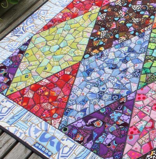 Mosaic quilt det
