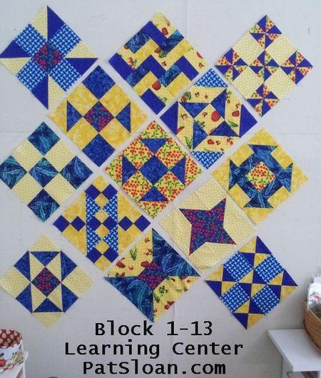 Pat Sloan block 1 thru 13 learning center