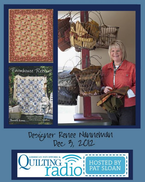 Pat Sloan American Patchwork and Quilting radio Renee Nanneman guest