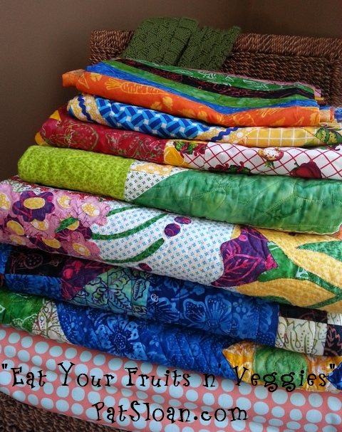 Pat Sloan eat your fruits and veggies quilts