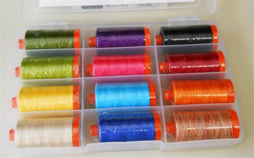 Pat sloan eat your fruts and veggies aurifil thread