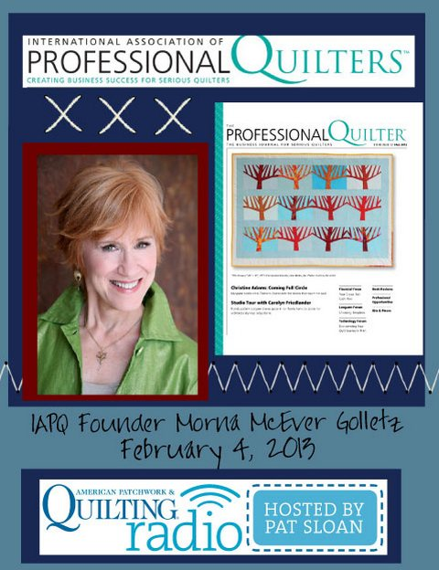 Pat Sloan American Patchwork and Quilting radio Morna McEver Golletz guest