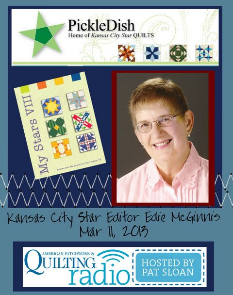 Pat Sloan American Patchwork and Quilting radio Edie McGinnis guest