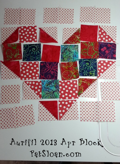 Pat sloan aurifil apr block 1
