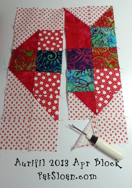 Pat sloan aurifil apr block 3