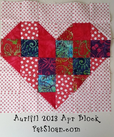 Pat sloan aurifil apr block 6