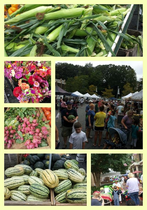 Pat sloan farmer market Collage