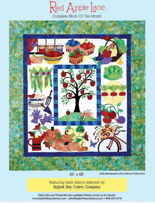 Pat sloan red apple lane full quilt
