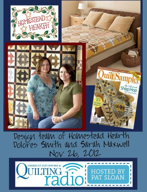 Pat Sloan American Patchwork and Quilting radio Homestead Hearth guest