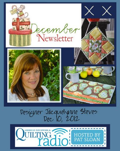 Pat Sloan American Patchwork and Quilting radio Jacquelynne Steves guest