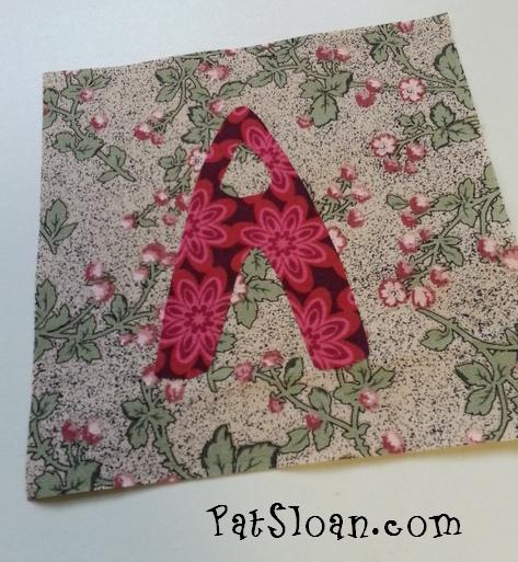 Pat Sloan Dear Jane alphabet A